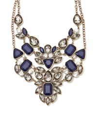 Forever 21 | Blue Rhinestone Statement Necklace Set | Lyst