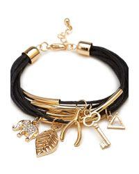 Forever 21 Metallic Elephant Charm Bracelet