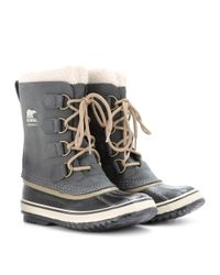 Sorel - Gray Pac 2 Leather and Rubber Boots - Lyst