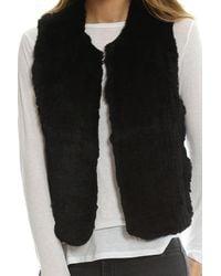 H Brand Black Celine Fur Vest