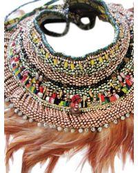 Anita Quansah London Orange Ara Necklace