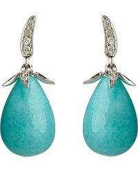Annoushka | Metallic Chilli White Heat 18ct White-gold, Amazonite And Diamond Earrings - For Women | Lyst