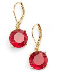 Anne Klein | Metallic Stone Drop Earrings | Lyst