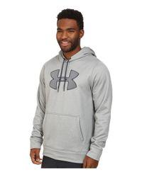 Under Armour | Gray Ua Storm Armour® Fleece Big Logo Hoodie for Men | Lyst