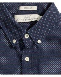 H&M | Blue Jacquard-Weave Shirt for Men | Lyst