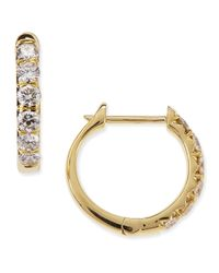 Jude Frances - Metallic Jude 18k Yellow Gold Huggie Hoop Earrings With Diamonds - Lyst