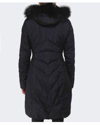 Creenstone | Black Eugenie Fur Trim Coat | Lyst