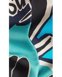 Burberry Brit | Blue Insects Of Britain Print Silk Slim Scarf | Lyst