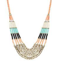 ALDO Multicolor Thaledda Beaded Collar Necklace