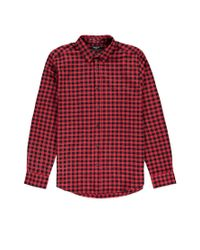 Forever 21 | Red Plaid Flannel Shirt for Men | Lyst