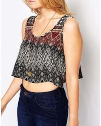 Glamorous | Red Printed Vest Top | Lyst