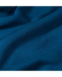 Sunspel Blue Men's Loopback Cotton Bomber Jacket for men