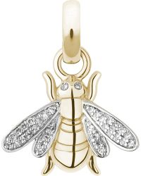 Links of London | Metallic Bee 18-carat Gold And Diamond Charm | Lyst
