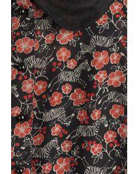 Anna Sui   Multicolor Zebra Dress With Collar - Black   Lyst