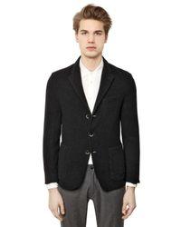 Barena Black Washed Wool Gauze Jacket for men