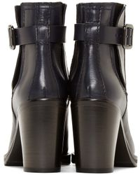 McQ - Blue Navy Wick Ankle Boots - Lyst