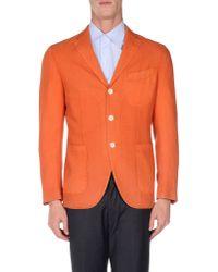 Boglioli Orange Blazer for men