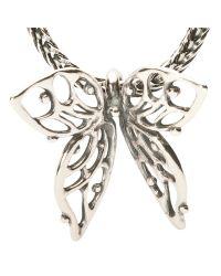 Trollbeads - Metallic Big Butterfly Charm - Lyst