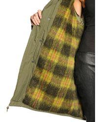 Mr & Mrs Italy Green Hooded Cotton Parka W Murmansky Trim for men