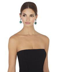 BCBGMAXAZRIA | Green Vintage-Inspired Gemstone Earrings | Lyst