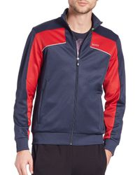 BOSS - Blue Skaz Colorblocked Track Jacket for Men - Lyst