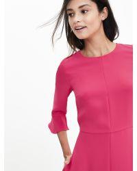 Banana Republic | Pink Flutter-sleeve Dress | Lyst