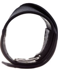 Julius   Black Leather Bracelet for Men   Lyst