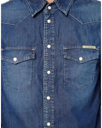 Pepe Jeans - Blue Pepe Carson Shirt for Men - Lyst