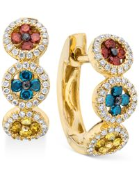 Le Vian | Metallic Exotics® Multicolor Diamond Earrings (5/8 Ct. T.w.) In 14k Gold | Lyst