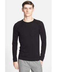 Helmut Lang Black Crewneck Sweater for men