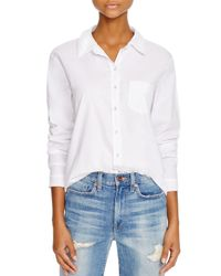 Stateside | White Contrast Back Oxford Shirt - Bloomingdale's Exclusive | Lyst