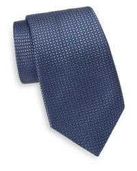 Saks Fifth Avenue | Blue Silk Woven Square Tie for Men | Lyst