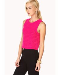 Forever 21 | Purple Boxy Knit Top | Lyst