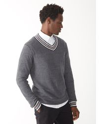 Alternative Apparel | Black Eco-jersey V-neck Sweatshirt for Men | Lyst