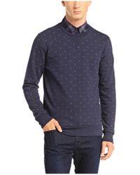 BOSS Orange - Blue Cotton Sweatshirt 'wyott' for Men - Lyst