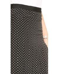 Tory Burch Black Erica Pleated Skirt