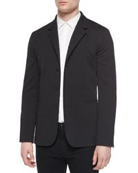 Helmut Lang Black Convertible Knit Blazer for men