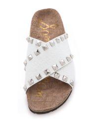 Sam Edelman Arina Studded Slide Sandals White