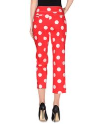 Les Copains - Red Casual Trouser - Lyst