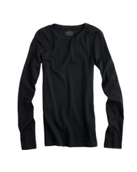 J.Crew | Black Perfect-fit Long-sleeve T-shirt | Lyst