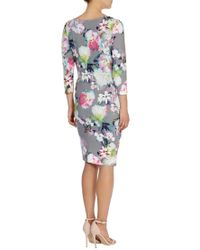 Coast Multicolor Saralise Floral Print Jersey Dress