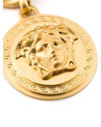 Versace | Metallic Medusa Medallion Necklace | Lyst