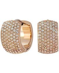 Fossil - Pink Ombre Glitz Huggie Earrings - Lyst