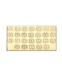 Ginette NY | Metallic Mini Signet Monogram Ring, White Gold | Lyst