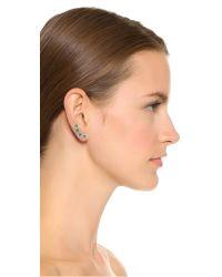 Noir Jewelry - Green Joslyn Ear Crawlers - Blue/clear - Lyst
