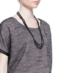 Eileen Fisher - Black Sequined Rivulet Necklace - Lyst