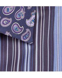 Etro - Blue Paisley Print Shirt for Men - Lyst