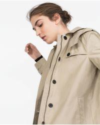 Zara | Natural Water Repellent Trench Coat | Lyst
