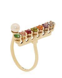 Delfina Delettrez - Multicolor Gold Vein Ring - Lyst