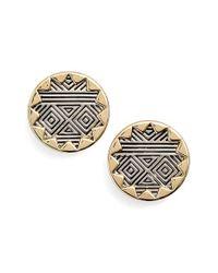 House of Harlow 1960 - Black 1960 'sunburst' Button Earrings - Lyst